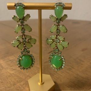 J. Crew Bright Green Dangling Statement Earrings